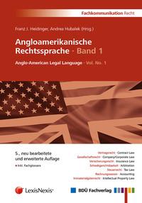 Angloamerikanische Rechtssprache, Band 1