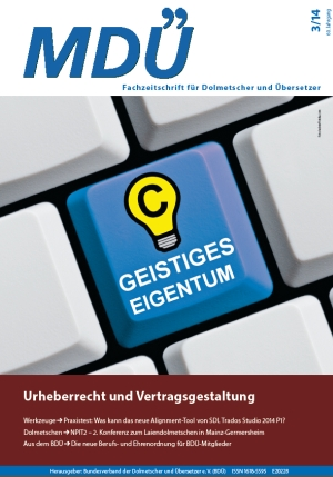 MDÜ Heft 3/2014, Titel