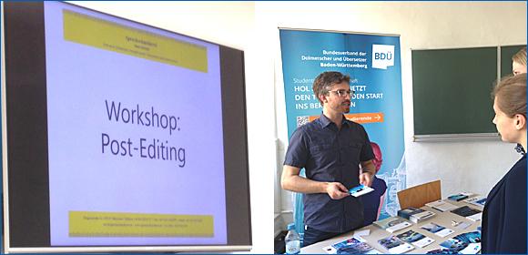 Workshop und Infostand des BDÜ BW